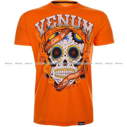 Футболка Venum Santa Muerte 2.0 T-shirt Orange, фото 2