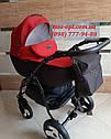 Детская коляска 2 в 1 Classik Len(Классик Лен) Victoria Gold  графит красный, фото 2