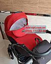 Детская коляска 2 в 1 Classik Len(Классик Лен) Victoria Gold  графит красный, фото 3