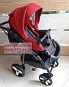 Детская коляска 2 в 1 Classik Len(Классик Лен) Victoria Gold  графит красный, фото 7