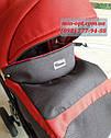 Детская коляска 2 в 1 Classik Len(Классик Лен) Victoria Gold  графит красный, фото 6
