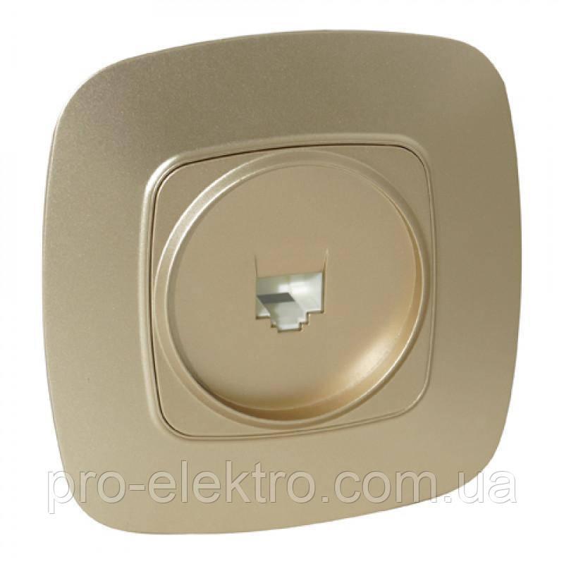 """""""ELA"""" Розетка внутрішня ТФ цифрова (телефонний) золота, Horoz (112-007-0010-030)"""