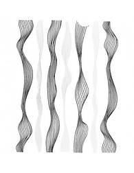 Гибкая лента для дизайна, черный и серебро