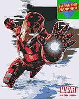 Картина по номерам Железный человек Тони Старк +Лак 40*50см Барви Iron Man Марвел Tony Stark Герои