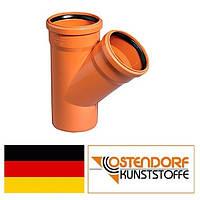 Тройник ПВХ 110/110х45 наружной канализации Ostendorf Германия
