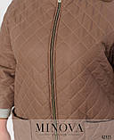 Тёплая простёганная куртка батал с подкладкой, большого размера 50-52,54,56-58,60-62, фото 3