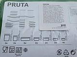 17 шт. Набор контейнеров для продуктов IKEA PRUTA прозрачный зеленый 601.496.73, фото 2