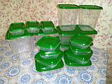 17 шт. Набор контейнеров для продуктов IKEA PRUTA прозрачный зеленый 601.496.73, фото 3