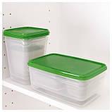 17 шт. Набор контейнеров для продуктов IKEA PRUTA прозрачный зеленый 601.496.73, фото 4