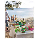 17 шт. Набор контейнеров для продуктов IKEA PRUTA прозрачный зеленый 601.496.73, фото 5