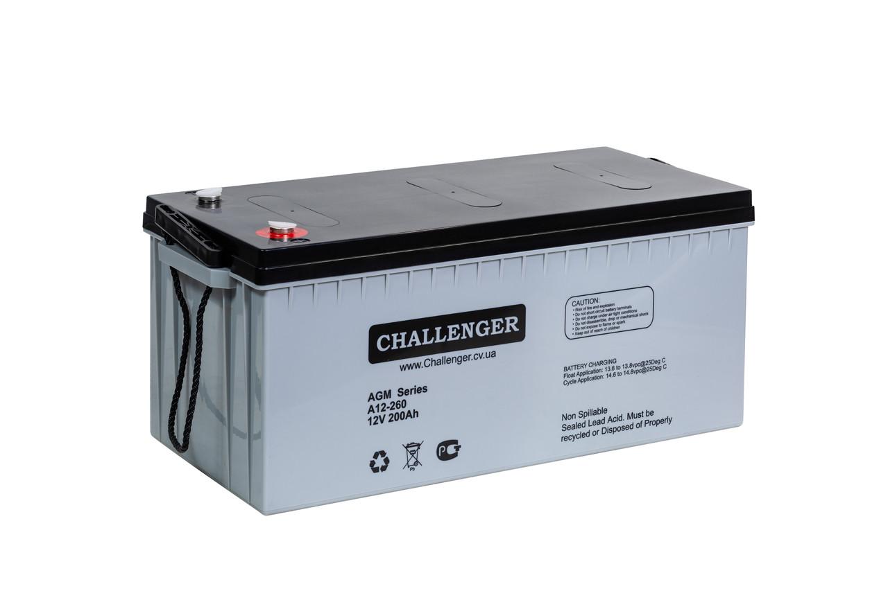 Акумуляторна батарея AGM Challenger A12-260 Ah 12V