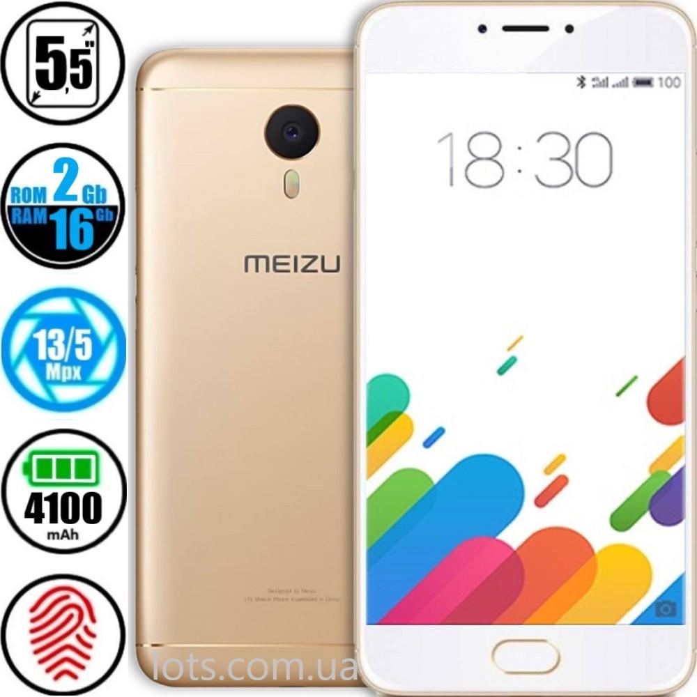 Смартфон Meizu M3 Note 2/16GB Gold