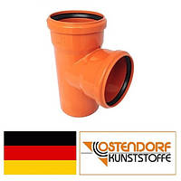 Тройник ПВХ 110/110х87 наружной канализации Ostendorf Германия