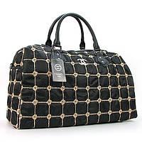 Черная дорожная женская сумка ch-5340 bla текстильная стеганая на молнии, фото 1