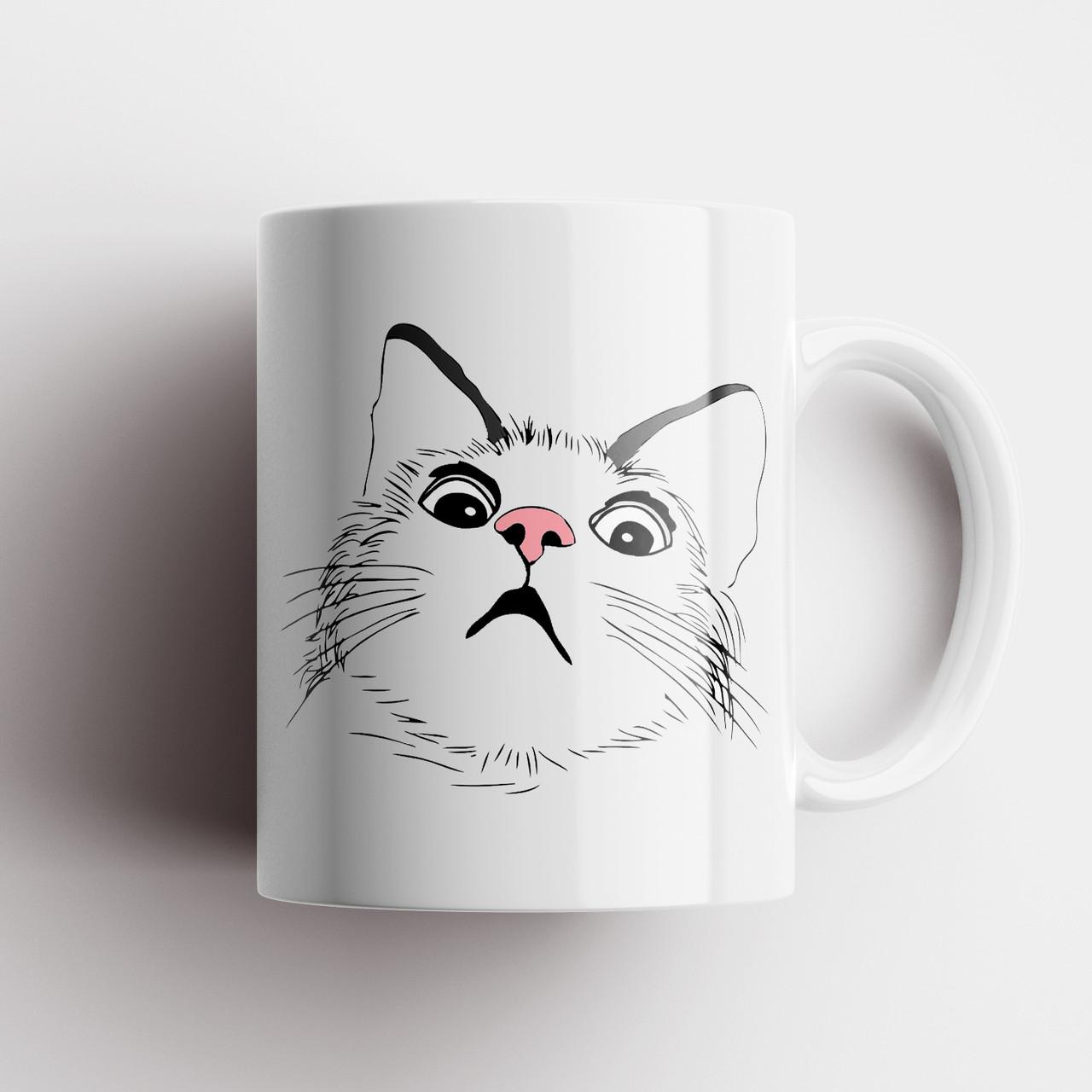 Кружка с котом. Чашка с принтом Кот. Чашка с фото