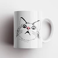 Кружка с котом. Чашка с принтом Кот. Чашка с фото, фото 1