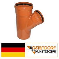 Тройник ПВХ 125/110х45 наружной канализации Ostendorf Германия
