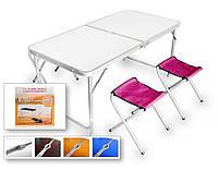 Набор стол складной и стулья (1+4) для пикника 1200х600х700 TABLE-004, фото 1