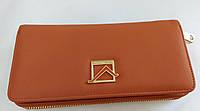 Женский кошелек 6907-005 рыжий Кошелек с искусственной кожи оптом недорого Одесса 7 км, фото 1