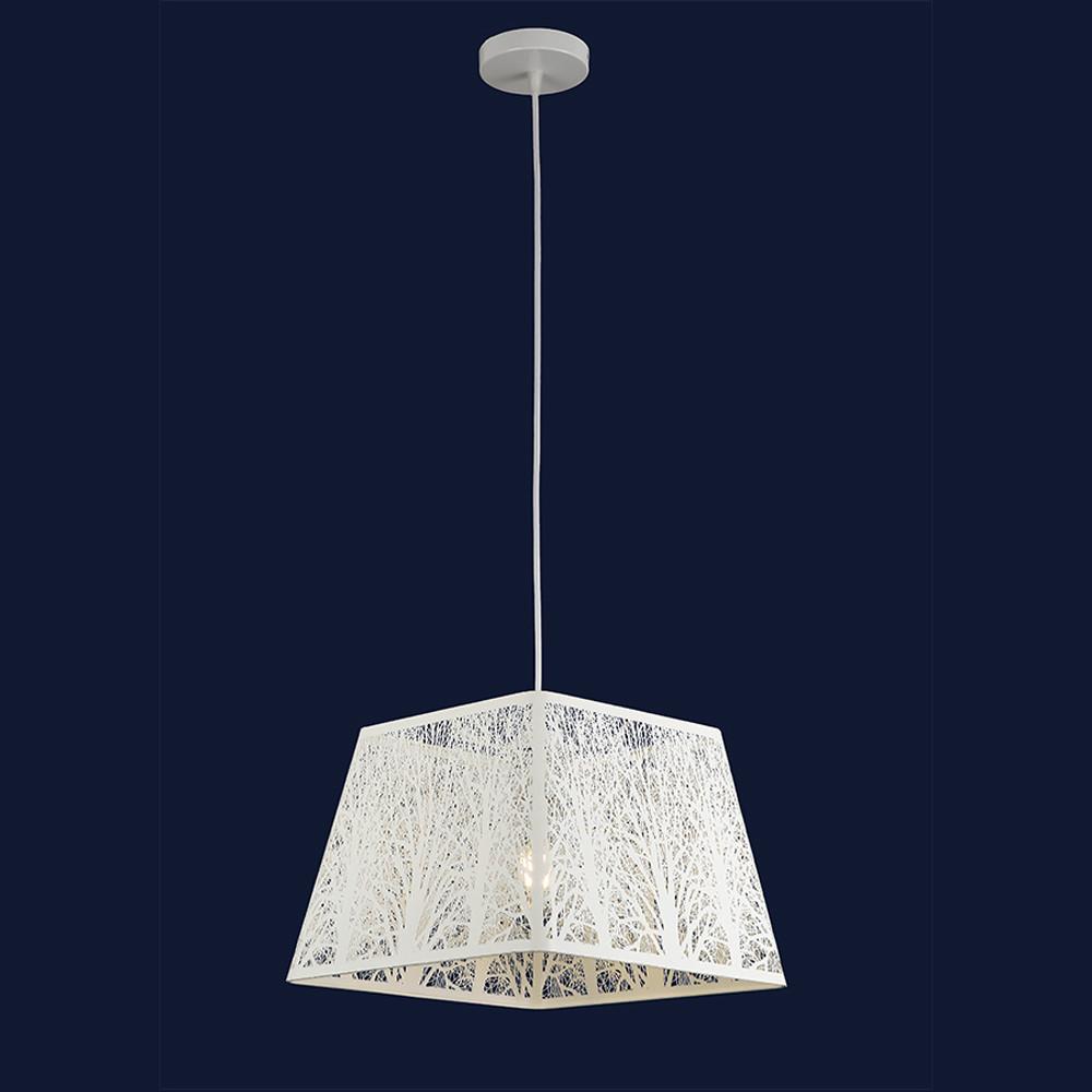 Висячий светильник с абажуром в стиле лофт цвет белый Levistella&909XL1245-1 WH
