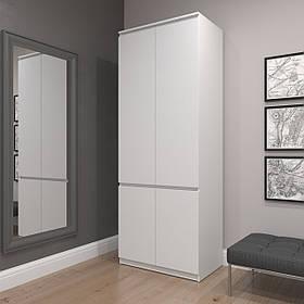 Шкаф для одежды и обуви c фасадами без ручек R-10