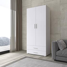 Шкаф для одежды распашной, платяной с двумя дверками и двумя ящиками S-2