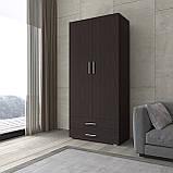 Шафа для одягу розпашній, платтяна з двома дверками і двома ящиками S-2, фото 3