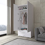 Шафа для одягу розпашній, платтяна з двома дверками і двома ящиками S-2, фото 2