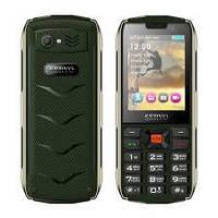 Телефон кнопочный бабушкофон с большими кнопками, фонариком и кнопкой сос на 4 сим Servo H8 green
