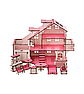 Ляльковий будиночок 57х27х35 В010 з гаражем . Ляльковий будинок деревяний, фото 2