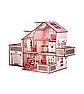 Ляльковий будиночок 57х27х35 В010 з гаражем . Ляльковий будинок деревяний, фото 6