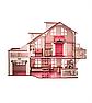 Ляльковий будиночок 57х27х35 В010 з гаражем . Ляльковий будинок деревяний, фото 5