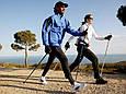 Телескопические трекинг палки для скандинавской ходьбы трекинговые палки скандинавские (пара) (GK), фото 6
