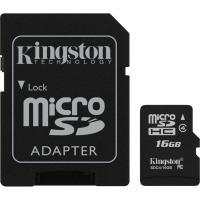 Карта памяти Kingston Micro SDHC 16Gb class 4 + SD adapter - Оптово-розничный магазин электроники и аксессуаров. ОстровВашейТехники! в Харькове