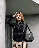 Модная квадратная женская черная сумка кросс боди с длинным ремешком через плечо, фото 3