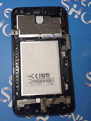 Модуль ( сенсор + дисплей  ) LG D285 / D280 L65 черный оригинал б.у., фото 2