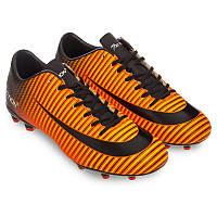 Распродажа! Бутсы футбольные детские без носка Pro Action (VL17562-TPU40-BO) 37 размер, стелька 24 см