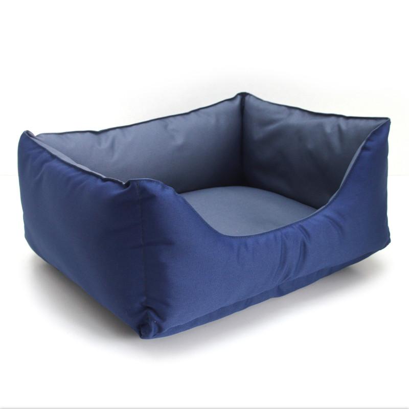 Лежак для собак и котов Гармония двусторонний синий №1 300х400х210