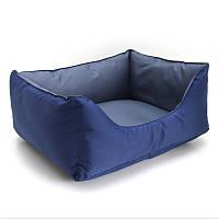 Лежак для собак и котов Гармония двусторонний синий №1 300х400х210, фото 1