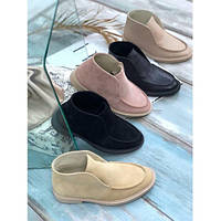 Кожаные ботинки лоферы, фото 1