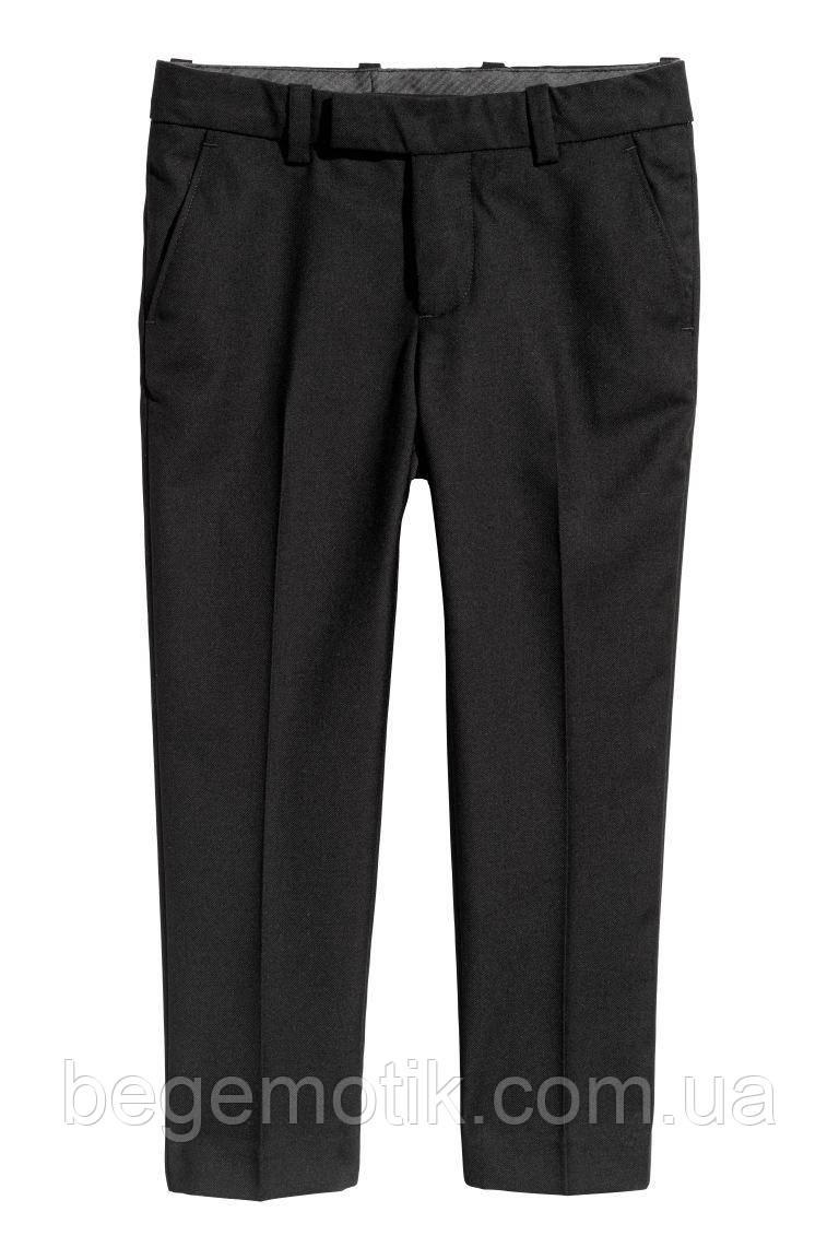 H&M Костюмные брюки черные для мальчика 7-8 лет рост 122-128
