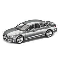 Модель автомобіля Audi A8 L, Monsoon Grey, Scale 1:43, артикул 5011708131