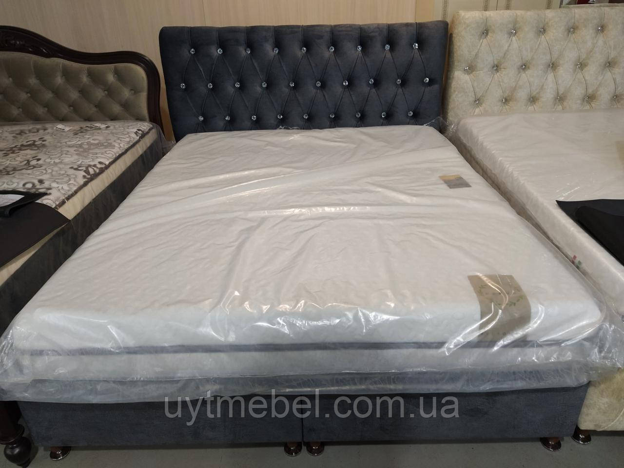 Ліжко Імперія 1600х2000 грей (Бахмут)