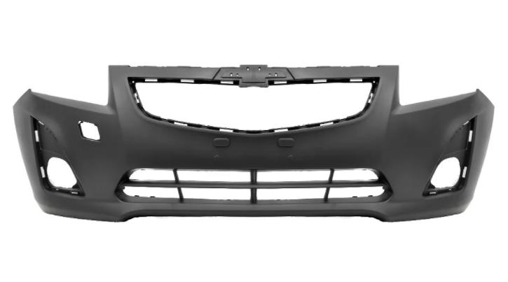 Передний бампер Chevrolet Cruze (без заглушки крюка) (Tempest)