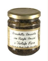 Брускетта Боскайола в оливковій олії з шампіньйонами та чорним трюфелем 180г у скляній банці