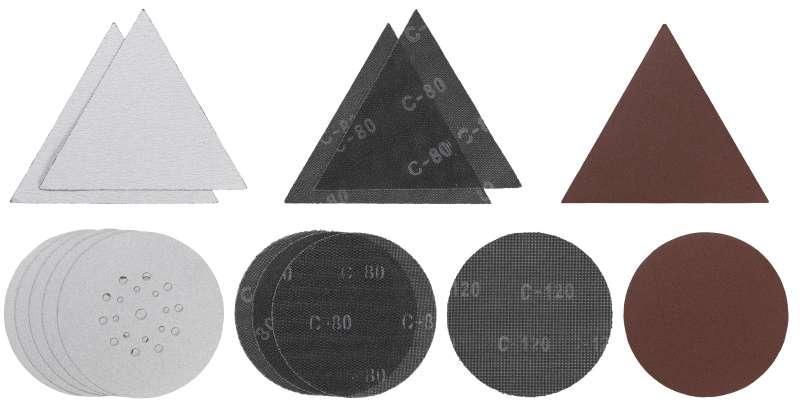 Набор бумаги шлифовальной для шлифмашины для стен и потолка 15шт KWB 491065