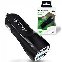 Автомобильное зарядное устройство Grand dual USB 2.1A (адаптер) черный