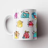 Чашка со слониками. Крудка с принтом. Чашка с фото, фото 1
