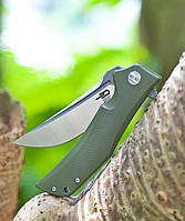 Нiж складний Bestech Knife SCIMITAR Army Green BG05B-1