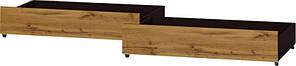 Ящик выдвижной на Кровать 800 Соната ЭВЕРЕСТ Венге темный + Аппалачи (95х45х18 см)